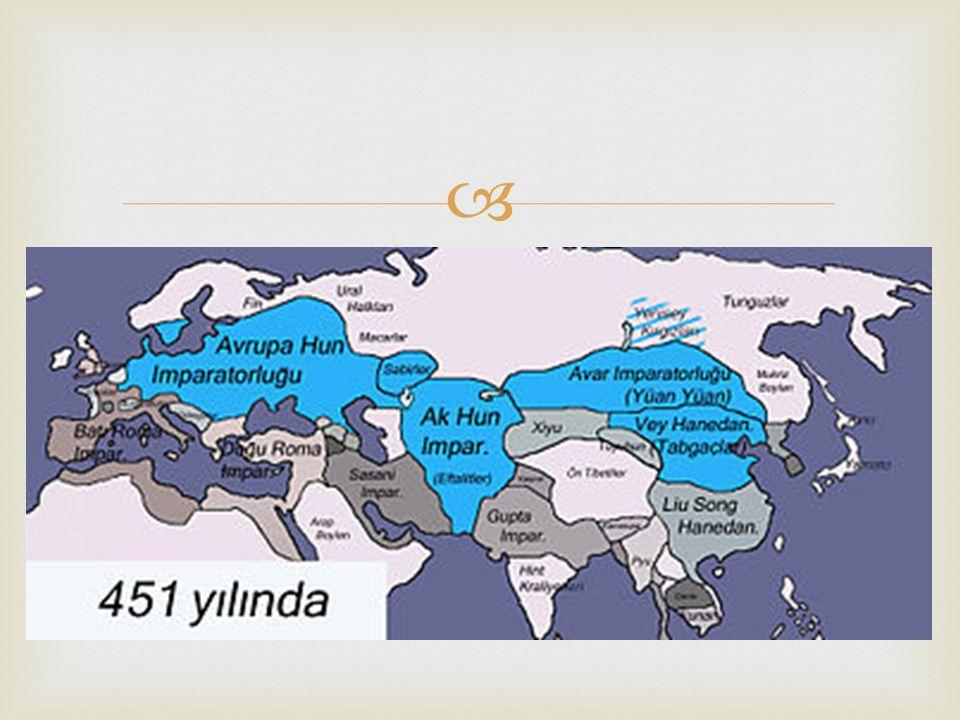   480: Hazar denizi ile Tuna nehri arasında Bulgarlar  531-578: Kafkas Surları nın İranlı Hüsrev tarafından dikilmesi  534: Tabgaçların (Vey Hanedanlığı) dağılması  552: Tu-kiu lerin (Göktürkler) Avar egemenliğe karşı ayaklanması.
