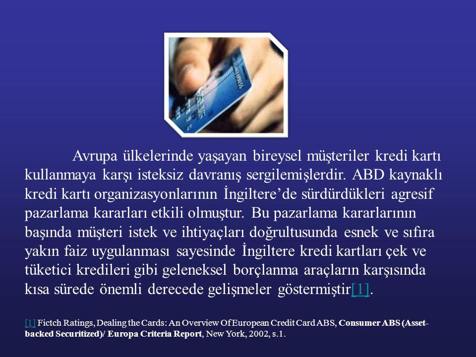 Avrupa ülkelerinde yaşayan bireysel müşteriler kredi kartı kullanmaya karşı isteksiz davranış sergilemişlerdir. ABD kaynaklı kredi kartı organizasyonl