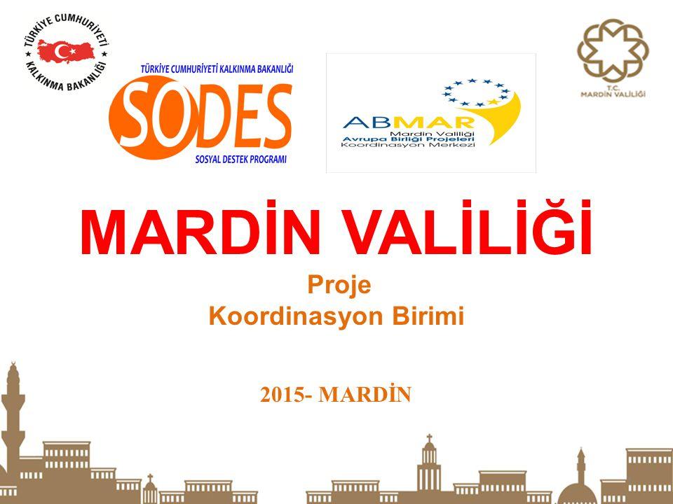 1 MARDİN VALİLİĞİ Proje Koordinasyon Birimi 2015- MARDİN