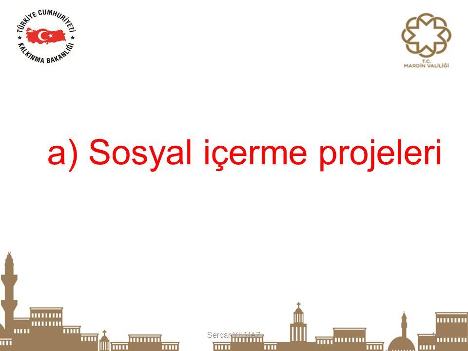 Serdar YILMAZ10 a) Sosyal içerme projeleri