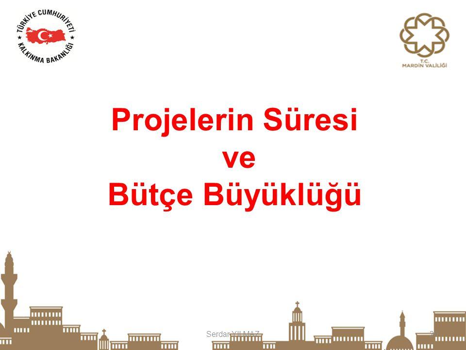 Serdar YILMAZ20 Projelerin Süresi ve Bütçe Büyüklüğü