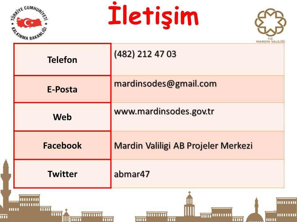 66 İletişim Telefon (482) 212 47 03 E-Postamardinsodes@gmail.com Webwww.mardinsodes.gov.tr Facebook Mardin Valiligi AB Projeler Merkezi Twitterabmar47