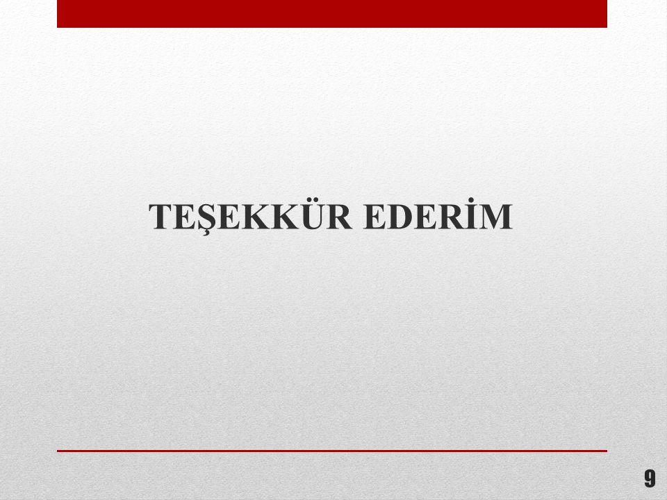 TEŞEKKÜR EDERİM 9