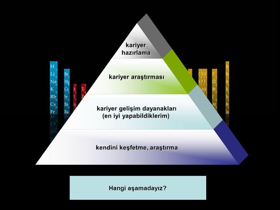 kariyerhazırlama kariyer araştırması kariyer gelişim dayanakları (en iyi yapabildiklerim) kendini keşfetme, araştırma Hangi aşamadayız