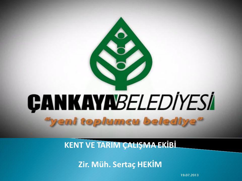 KENT VE TARIM ÇALIŞMA EKİBİ Zir. Müh. Sertaç HEKİM 19.07.2013