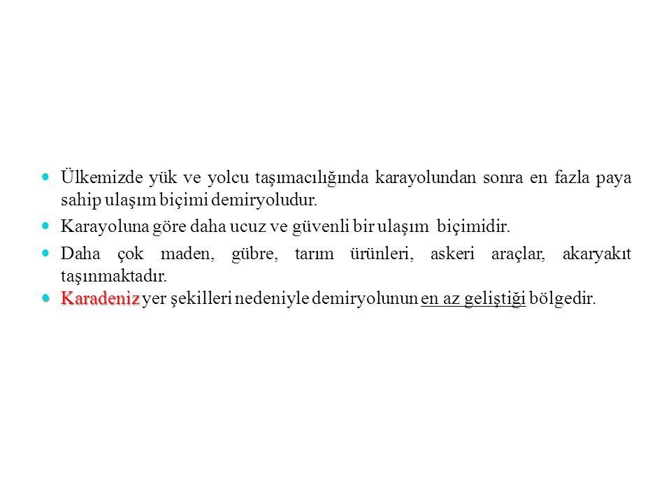 İstanbul Limanı: En büyük İTHALAT limanımızdır.En işlek limandır.