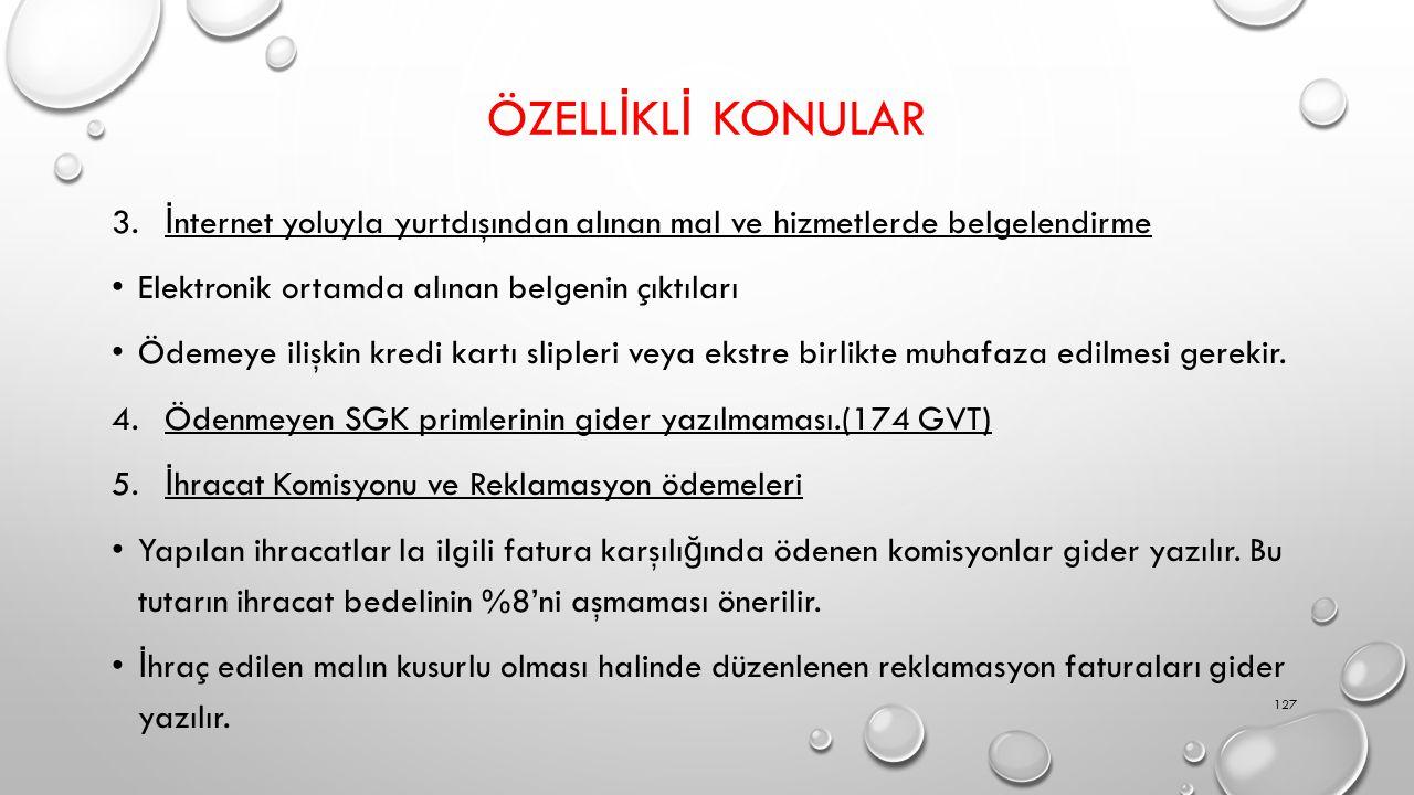 ÖZELL İ KL İ KONULAR 3.