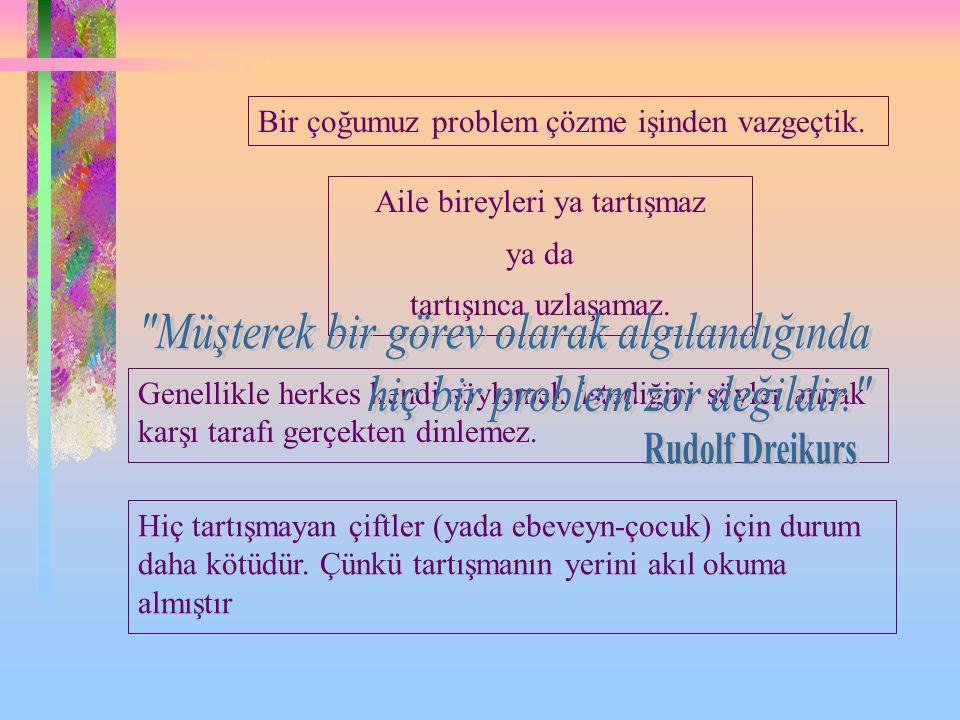 6 9 Bütün fikirler gözlemcinin bakış açısından doğrudur. Rudolf Dreikurs