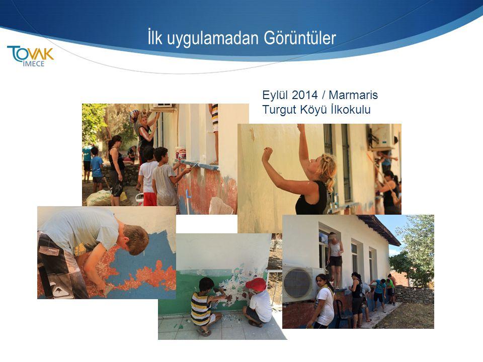İlk uygulamadan Görüntüler Eylül 2014 / Marmaris Turgut Köyü İlkokulu