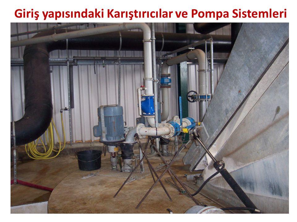 Giriş yapısındaki Karıştırıcılar ve Pompa Sistemleri