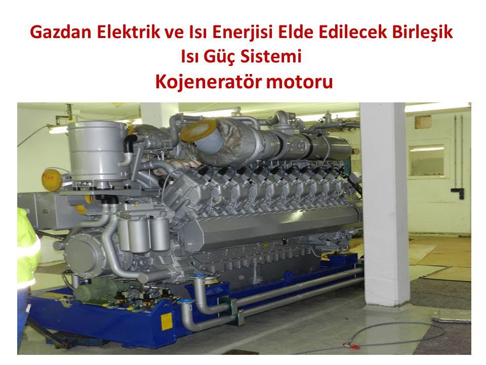 Gazdan Elektrik ve Isı Enerjisi Elde Edilecek Birleşik Isı Güç Sistemi Kojeneratör motoru