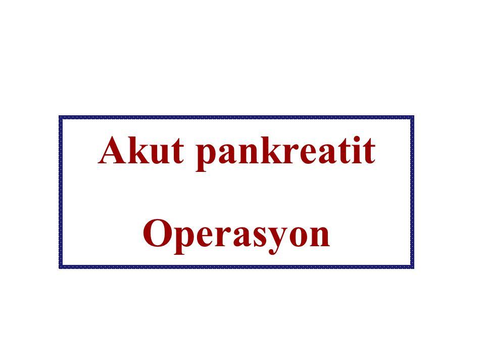 Akut pankreatit Operasyon