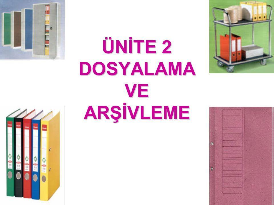 Arşiv Sisteminin Önemi ve Süreci Arşivlemenin bir sistem çerçevesinde yürütülmesi için, öncelikle arşivleme yeri tespit edilmelidir.