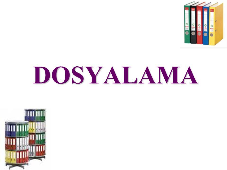 Desimal Dosyalama Sistemi 1.