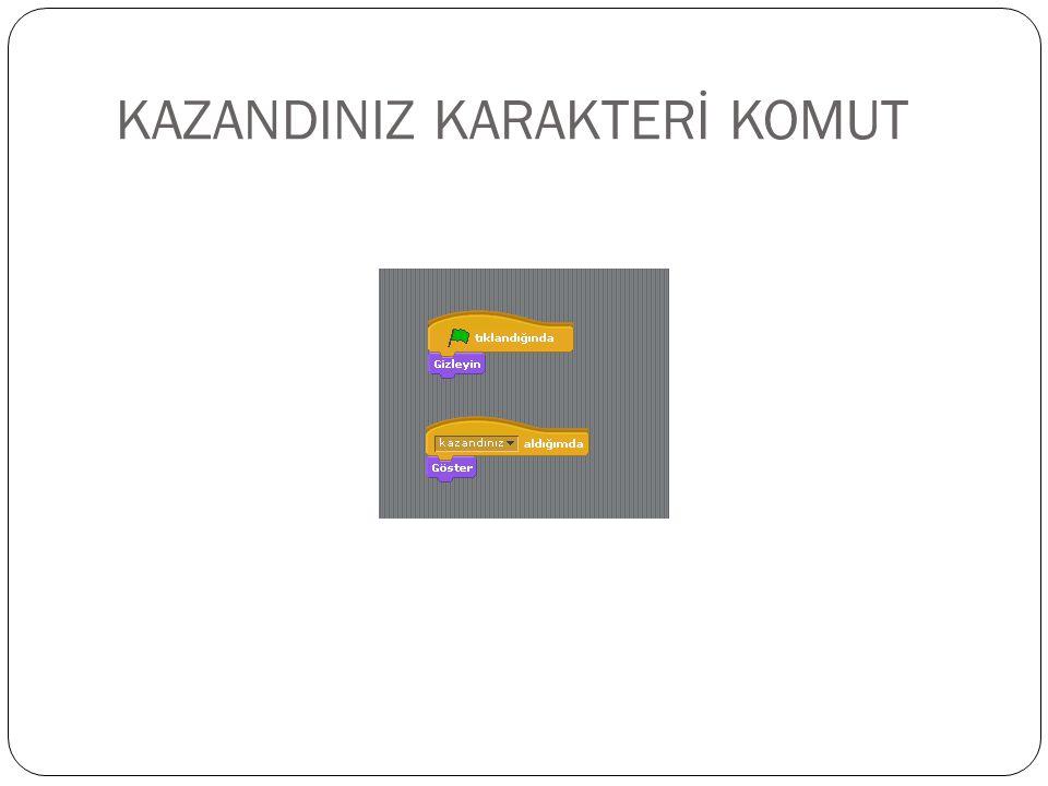 KAZANDINIZ KARAKTERİ KOMUT