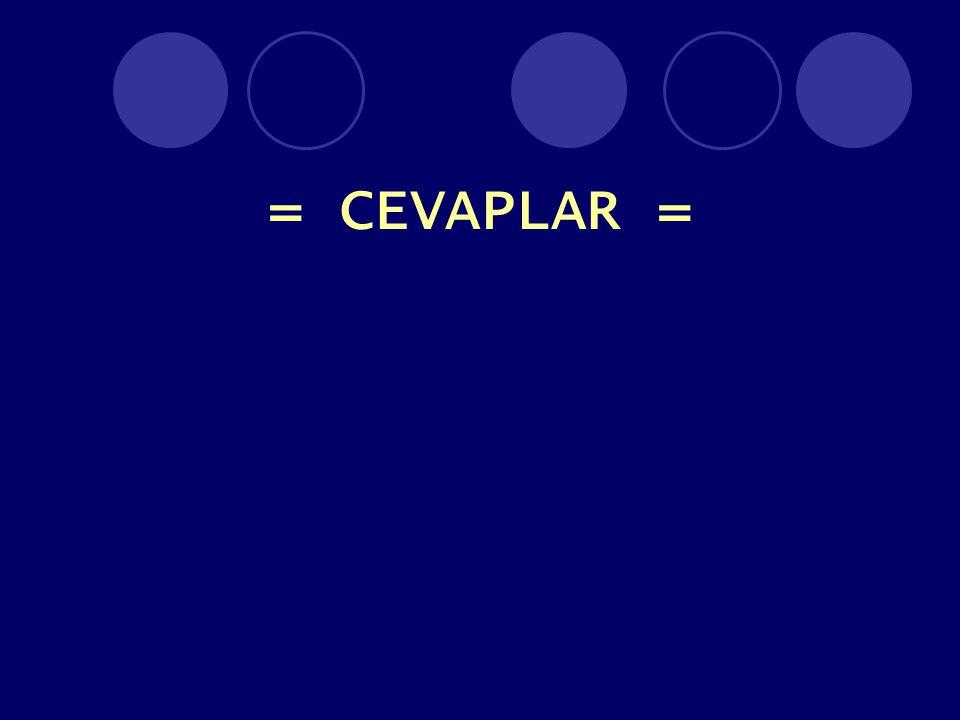 = CEVAPLAR =