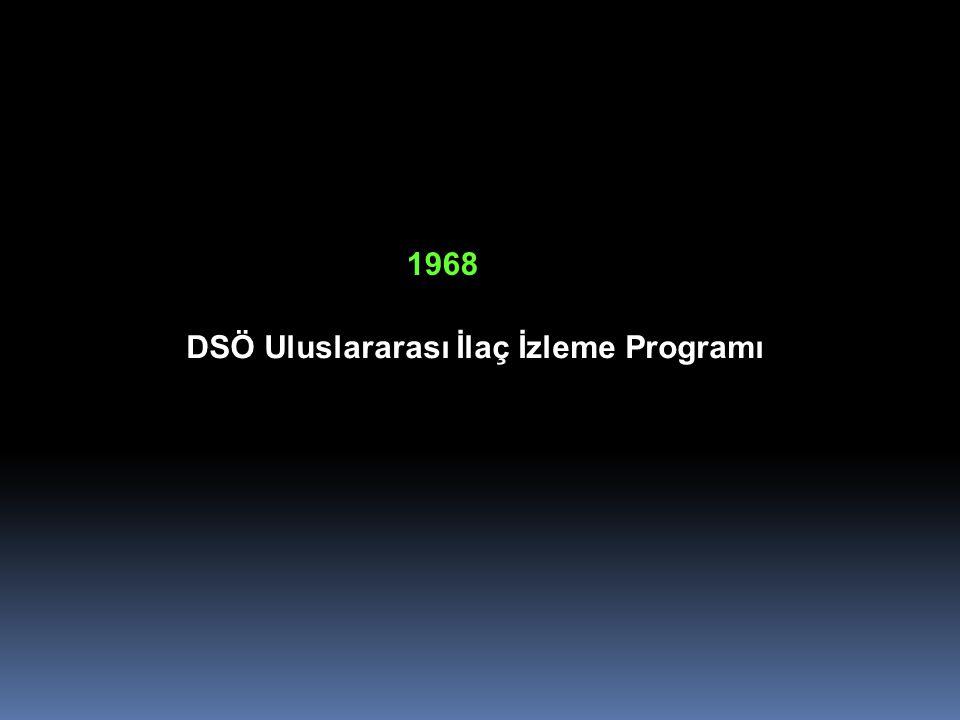 DSÖ Uluslararası İlaç İzleme Programı 1968