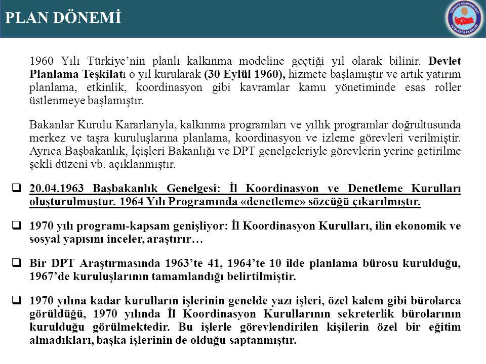 Planlı kalkınmayı strateji olarak belirleyen Türkiye için birinci beş yıllık plan döneminden (1963-1967) edinilen tecrübeyle ve görülen ihtiyaçlar temelinde ikinci beş yıllık dönemde (1968-1972) bazı idari düzenlemeler yapılması kararlaştırılmıştır.