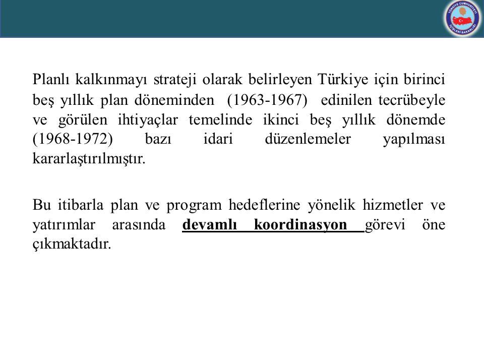 Planlı kalkınmayı strateji olarak belirleyen Türkiye için birinci beş yıllık plan döneminden (1963-1967) edinilen tecrübeyle ve görülen ihtiyaçlar tem