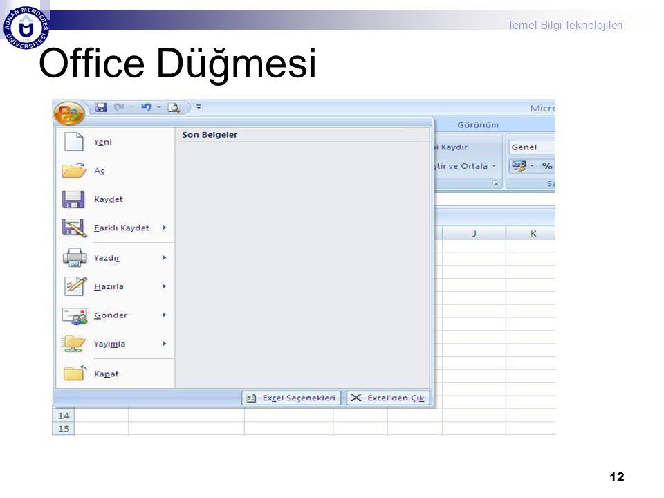 Temel Bilgi Teknolojileri 12 Office Düğmesi