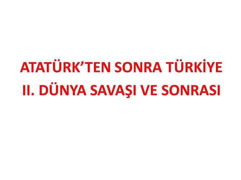 M.Kemal Atatürk, dış politikada Yurtta barış,dünyada barış! ilkesini benimsemiştir.