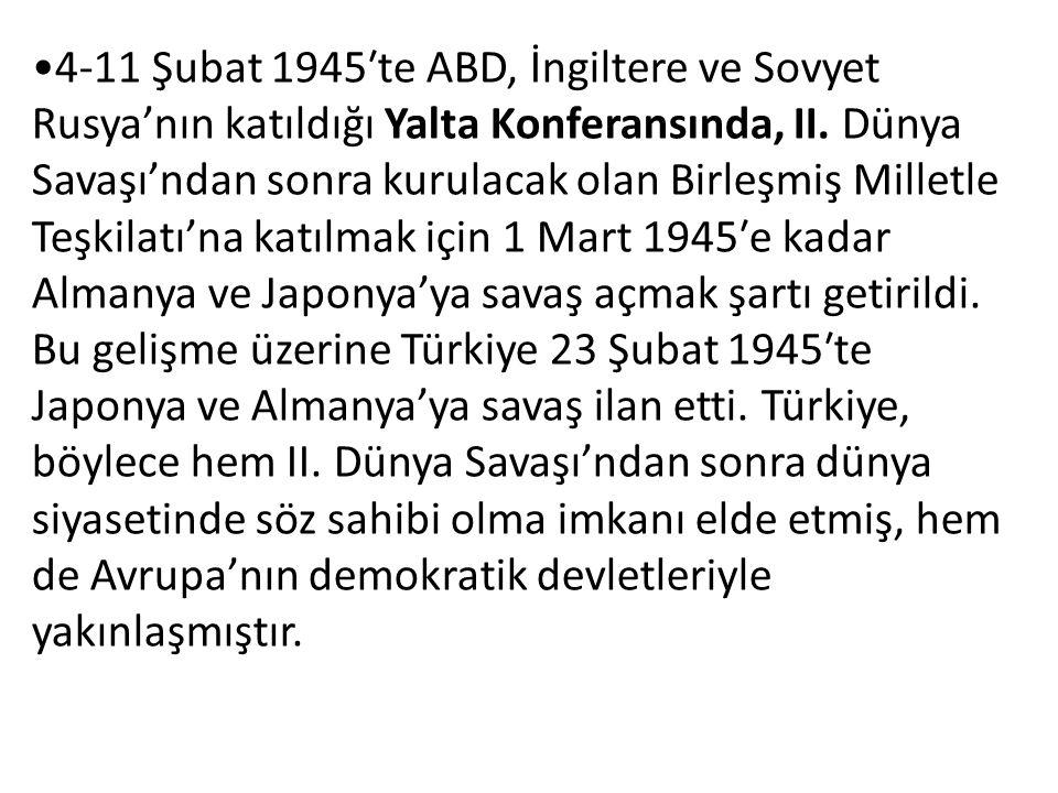 İkinci Dünya Savaşı'nın Türkiye üzerinde olumsuz sonuçları da oldu.