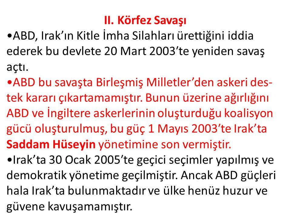 Körfez Savaşlarında Türkiye'nin Tutumu Türkiye, I.
