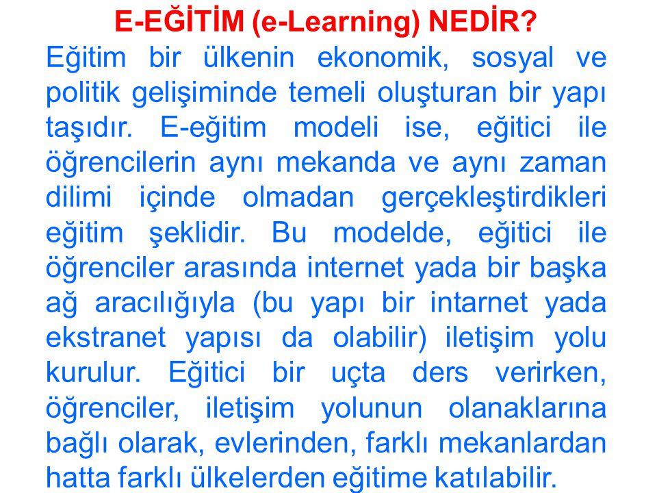 E-EĞİTİM (e-Learning) NEDİR.
