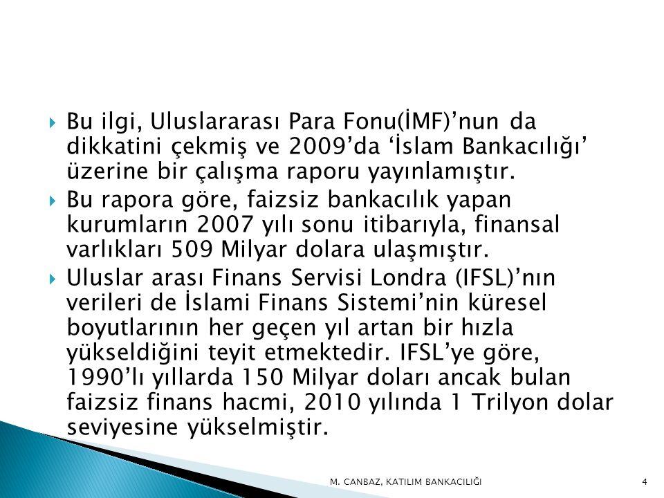  Bu ilgi, Uluslararası Para Fonu(İMF)'nun da dikkatini çekmiş ve 2009'da 'İslam Bankacılığı' üzerine bir çalışma raporu yayınlamıştır.