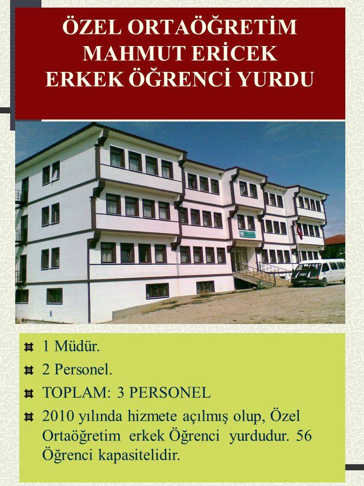 ÖZEL ORTAÖĞRETİM FETHİYE HATUN KIZ ÖĞRENCİ YURDU 1 Müdür. 2 Personel. NOT: 2011 yılında hizmete açılmış olup, Özel bir kız yurdudur. 41 Öğrenci kapasi