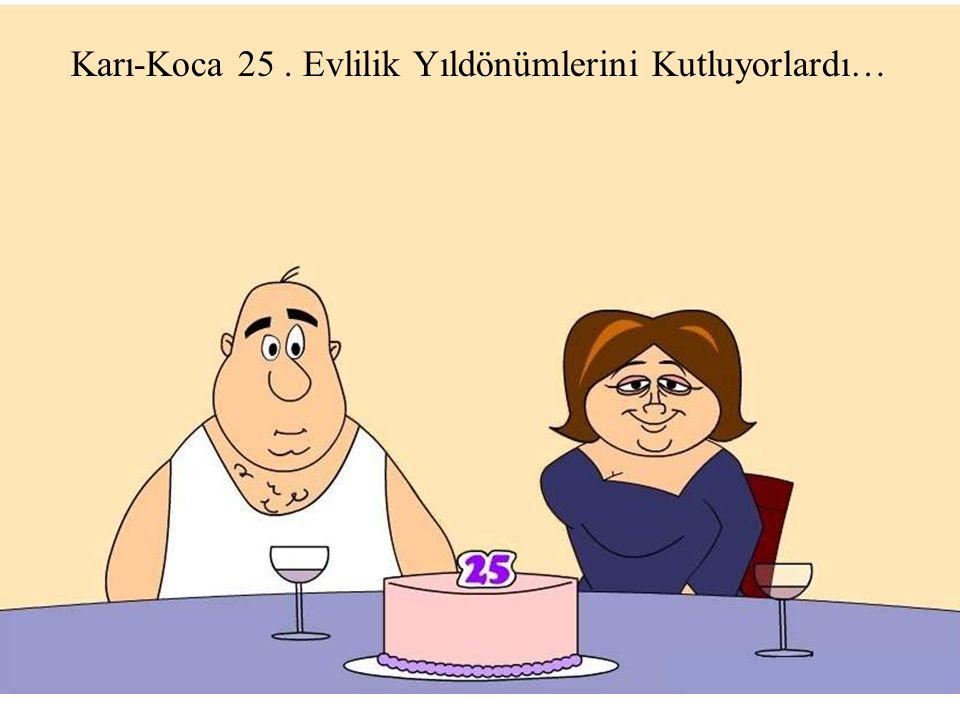 Bir anda EVLİLİK PERİSİ ortaya çıktı ve şöyle dedi: Sizler 25 yıl evli kaldığınız için ödülü hak ettiniz.