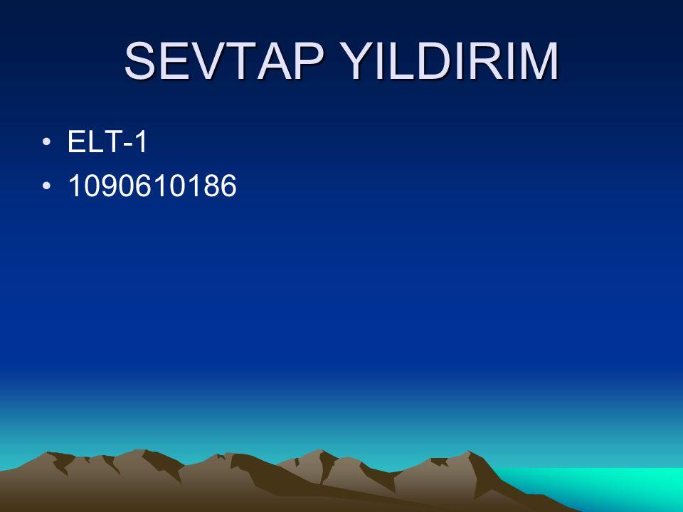 SEVTAP YILDIRIM ELT-1 1090610186