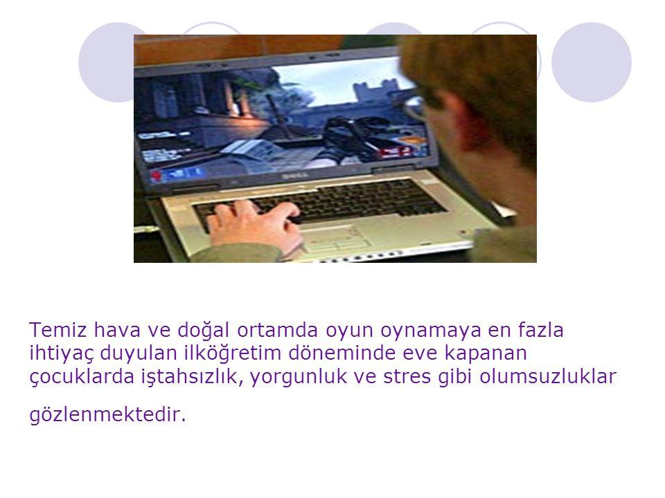 Çocuklarının evdeki bilgisayar ile oyun oynamalarına sınır ve yasak koyan anne babalar çocuklarıyla çatışma yaşayabilmektedirler.