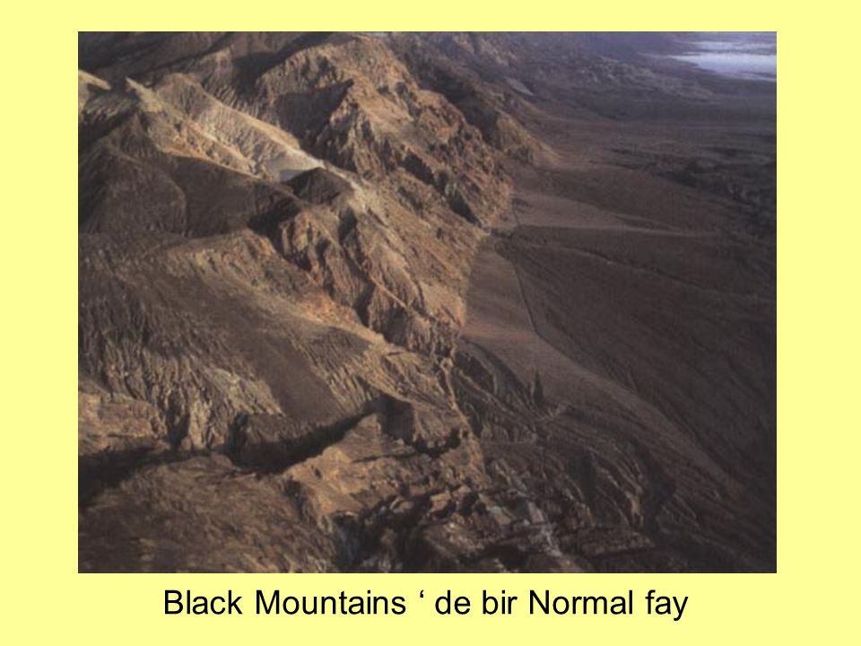 Black Mountains ' de bir Normal fay
