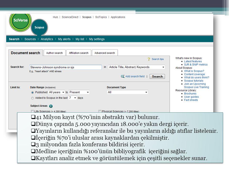 Scopus'u Kimler Kullanır? Kütüphaneci Araştırmacı Yazar Yayıncı