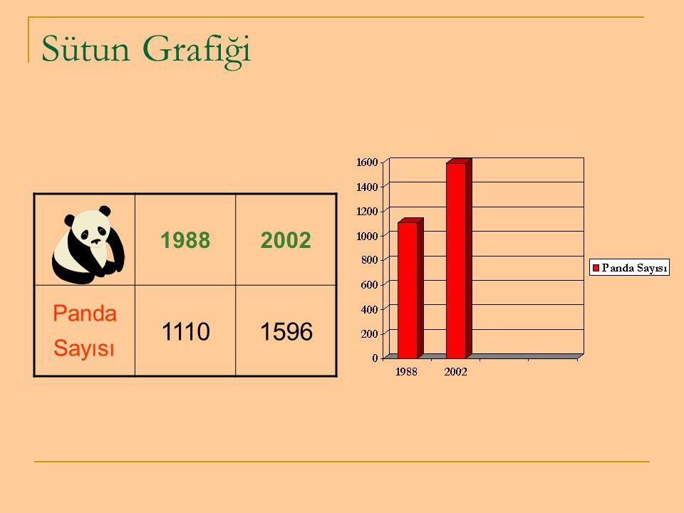Sütun Grafiği 19882002 Panda Sayısı 11101596