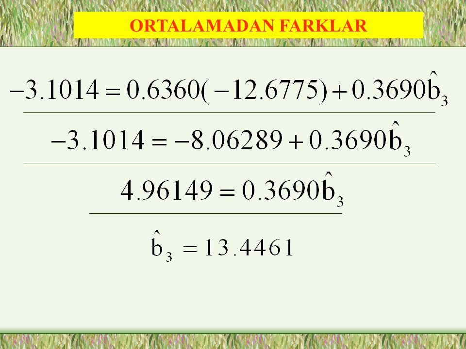ORTALAMADAN FARKLAR -0.3690 / 0.2246 /