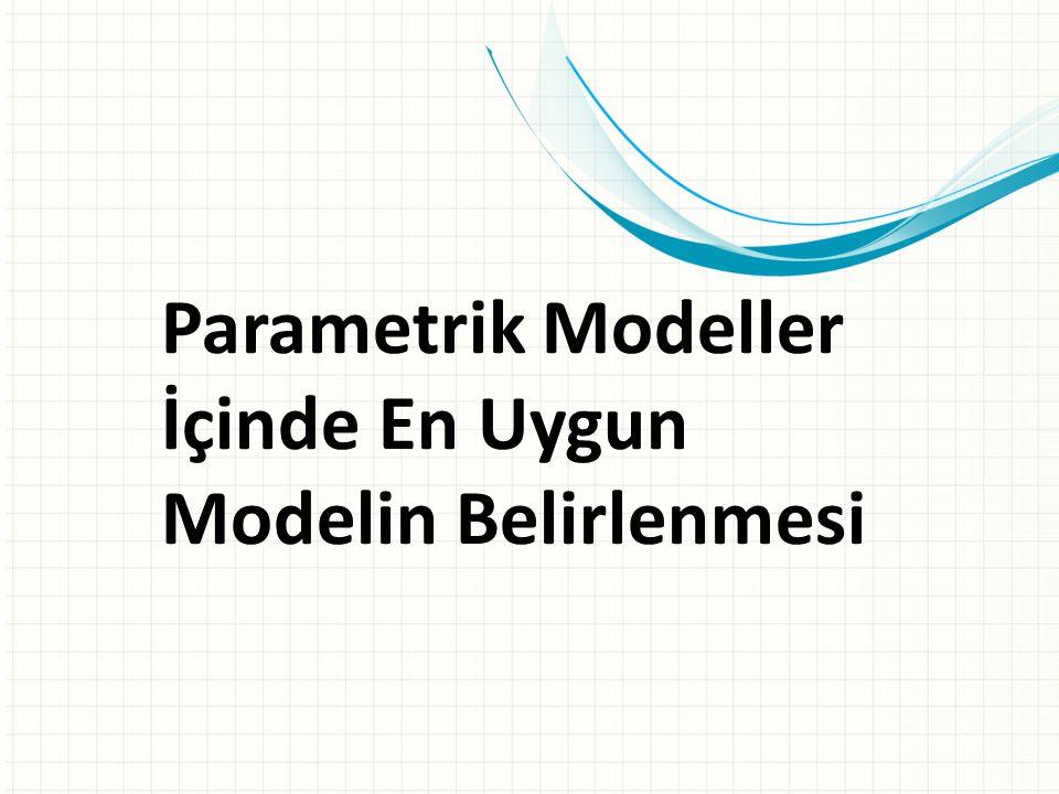 Parametrik Modeller İçinde En Uygun Modelin Belirlenmesi