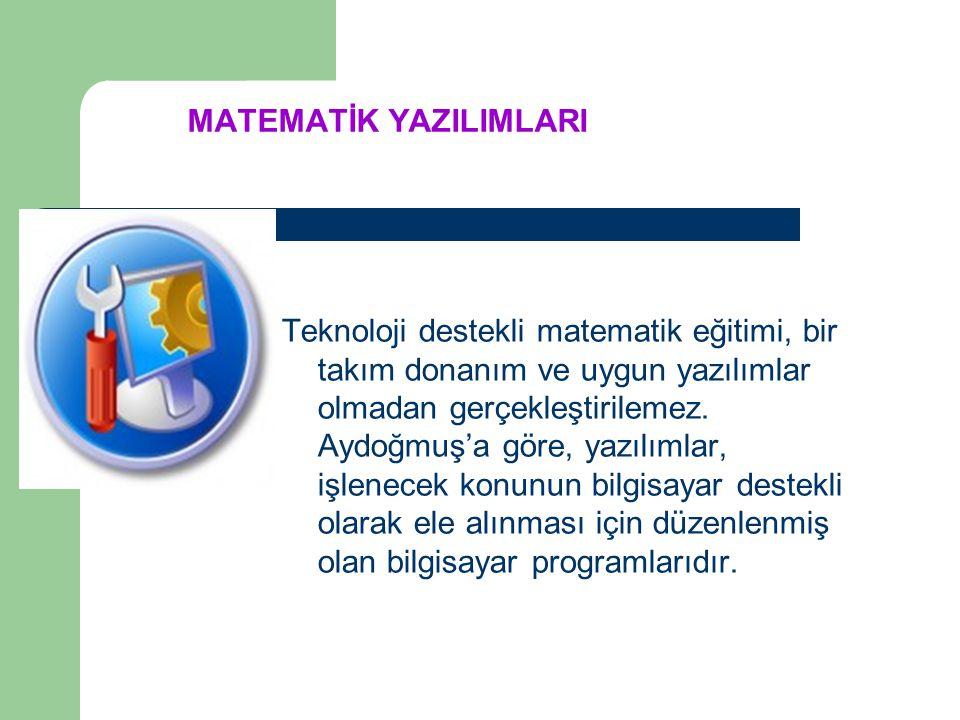2- Matematik yapmak için teknolojik araçlar: Daha kolay ve doğru matematik yapmak amacıyla geliştirilmiş olan teknolojileri kapsar. Örneğin, elde taşı