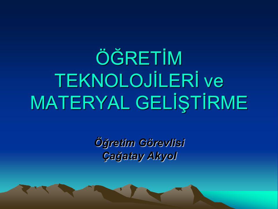 ÜNİTE 1 TEMEL KAVRAMLAR -Eğitim -Öğretim -Öğrenme -İletişim -Etkileşim -Yöntem ve Teknik -Teknoloji -Eğitim Teknolojisi -Öğretim Teknolojisi -Materyal Geliştirme -Öğretimde Teknoloji ve Materyallerin Temel İşlevleri