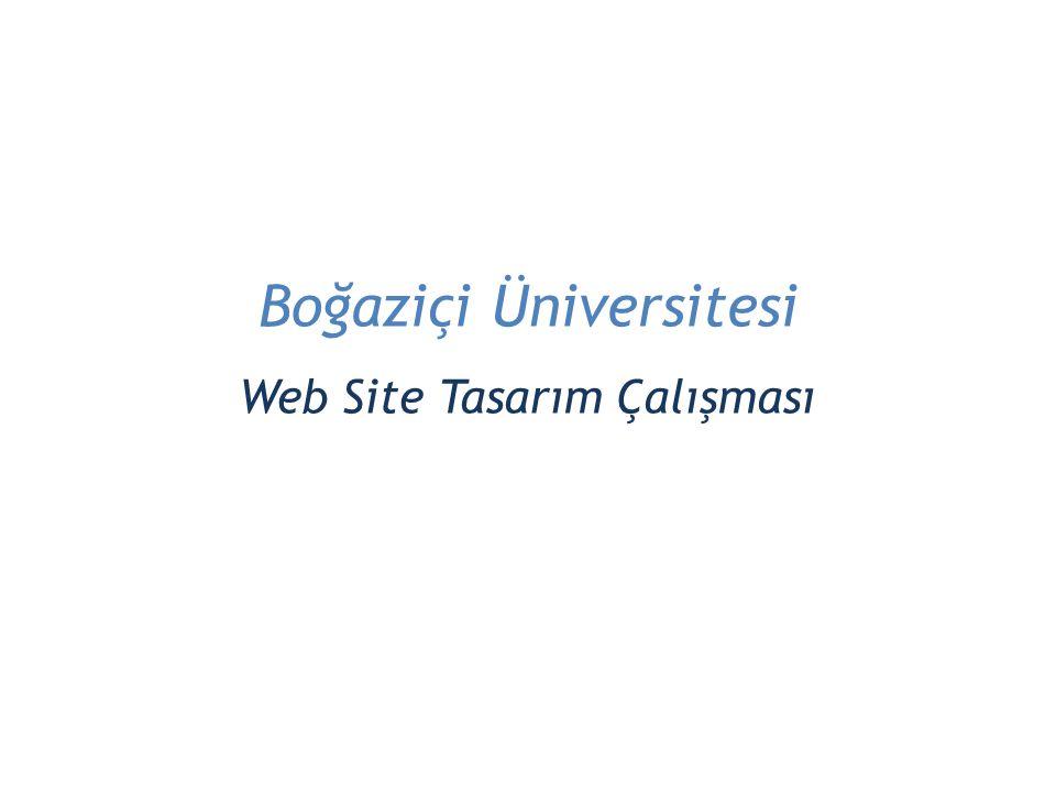Boğaziçi Üniversitesi Web Site Tasarım Çalışması