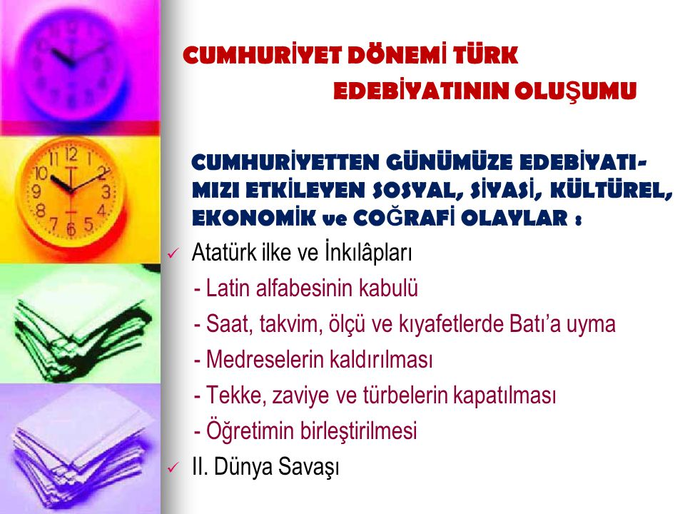 4.Türk Milletinin Kültürel Değerleri 5. Oğuz Kağan Destanı 6.