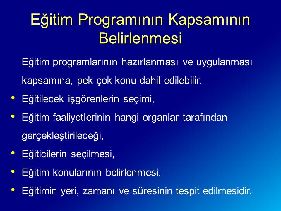 Eğitim Programının Kapsamının Belirlenmesi Eğitim programlarının hazırlanması ve uygulanması kapsamına, pek çok konu dahil edilebilir.