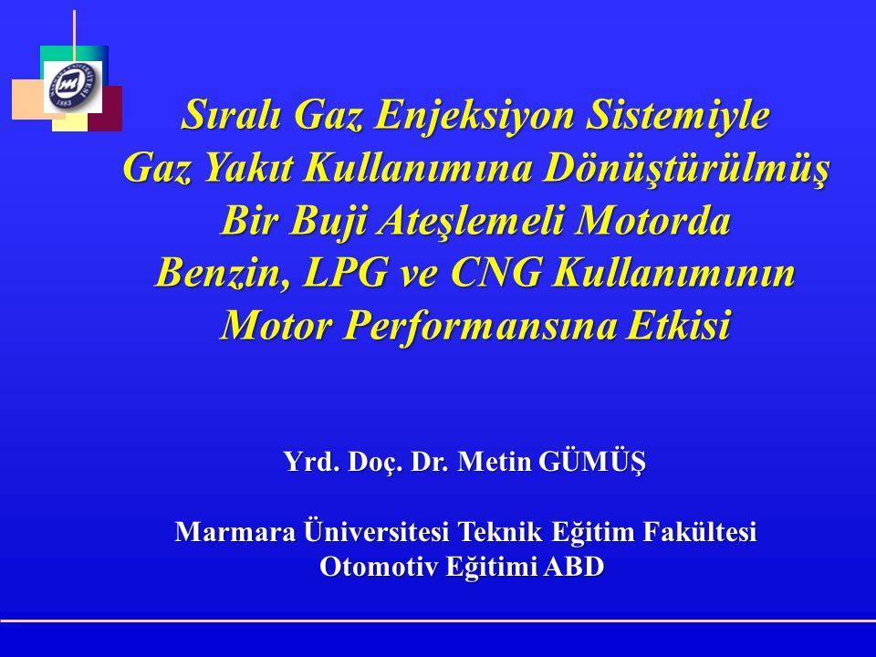 Deney yakıtlarının özellikleri M.