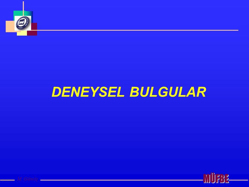 M. Gümüş DENEYSEL BULGULAR