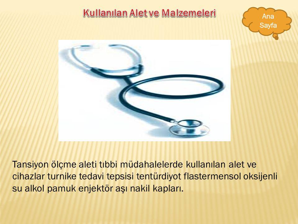 -Hastanın tedavisinde doktorla işbirliği içinde tedaviyi uygular -Enjeksiyon ve pansuman yapar tansiyon ölçer -Fizik tedavisi uygulamasında uzmanlara
