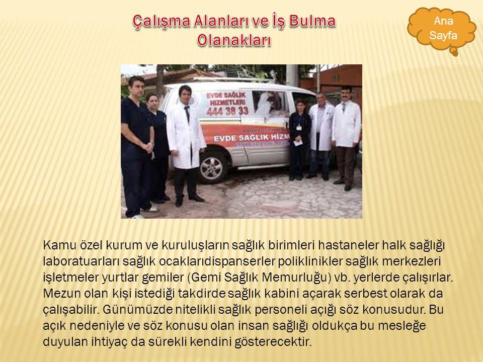 Sağlık memurları resmi ve özel hastanelerde dispanserlerde sağlık kabinlerinde sağlık ocaklarında ve işyerlerinde görev yaparlar. Görev ortamı genelli