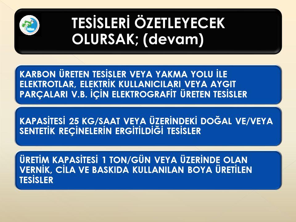 ASİT ÜRETİM TESİSLERİ (devam)
