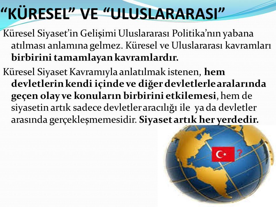 """""""KÜRESEL"""" VE """"ULUSLARARASI"""" Küresel Siyaset'in Gelişimi Uluslararası Politika'nın yabana atılması anlamına gelmez. Küresel ve Uluslararası kavramları"""