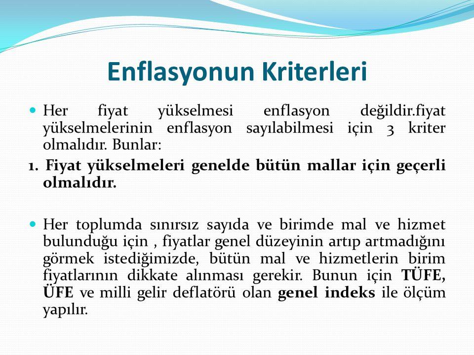 Türkiye'de Enflasyonun Parasal Nedenler Miktar Teorisi'ne göre bir toplumda para miktarının artmasına bağlı olarak paranın değerinin düşmesi kaçınılmazdır.